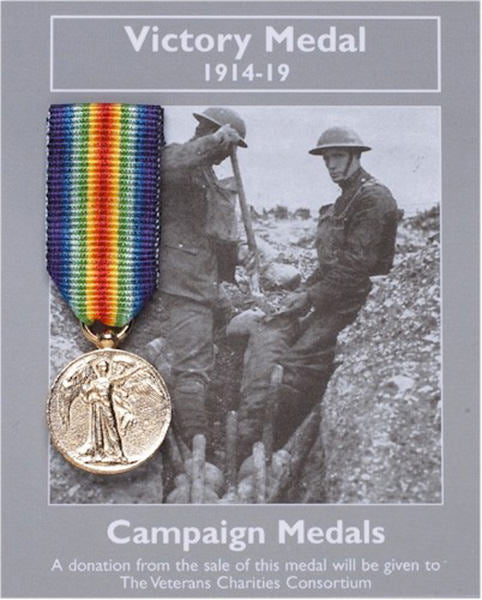 Victory Medal 1914-19: Miniature Replica Medal