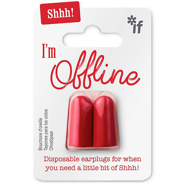I'm Offline Bright Red Earplugs