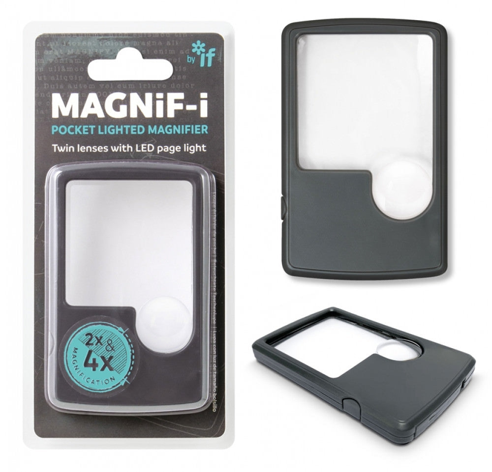 Pocket LED Dual Focus Magnifier