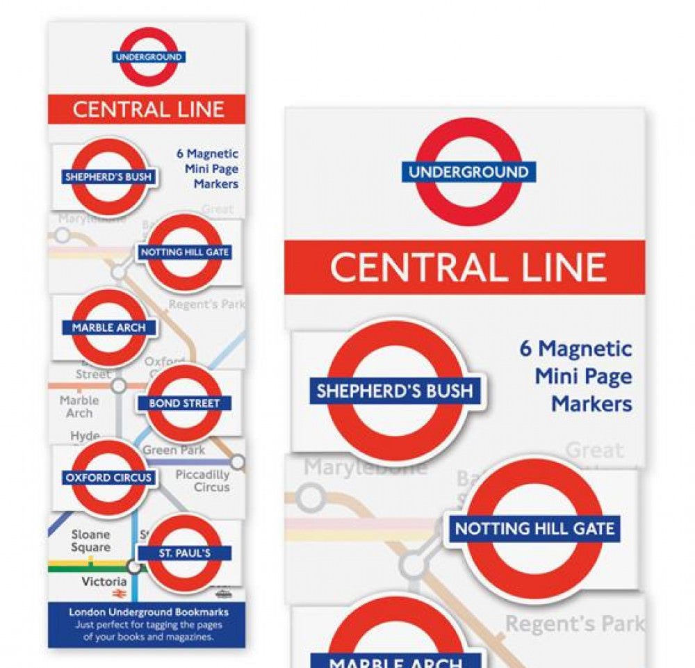 London Underground Magnetic Page Markers Central Line