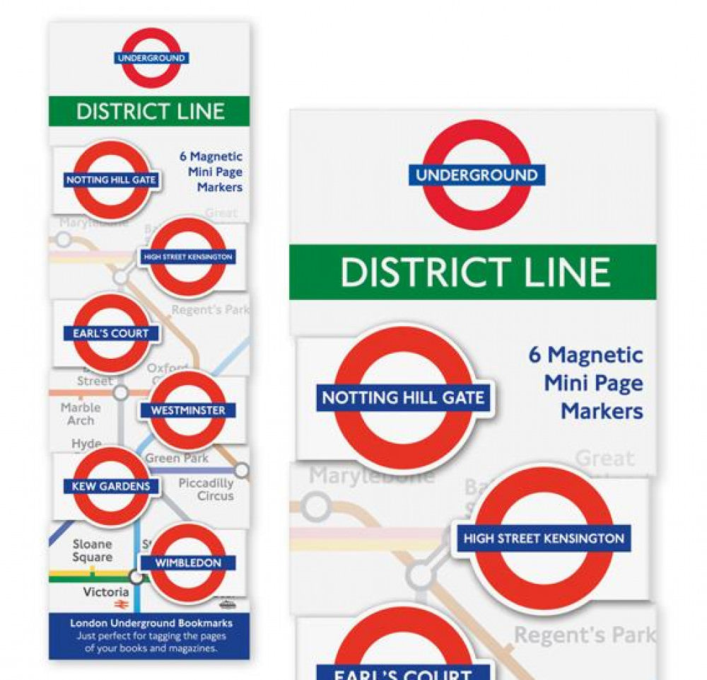 London Underground Magnetic Page Markers District Line