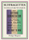Great Suffrage Demonstration Poster Magnet