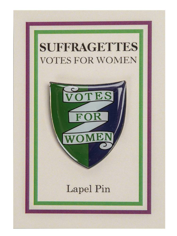 Suffragettes Enamel Shield Lapel Pin