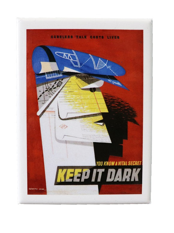 Keep It Dark Souvenir Fridge Magnet