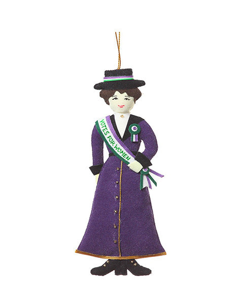 Suffragette In Purple Christmas Tree Decoration