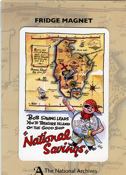 National Savings Treasure Island Fridge Magnet
