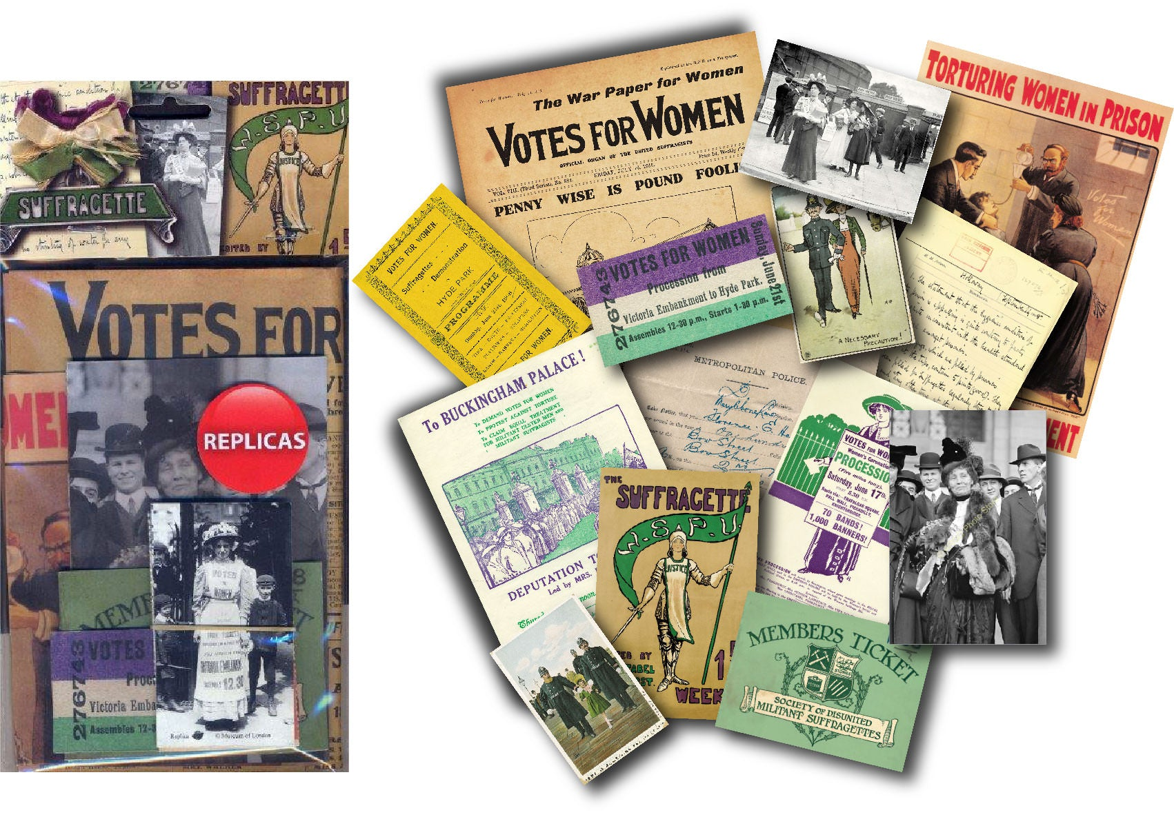 Suffragette: Replica Document Pack