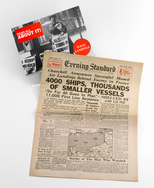 D Day Landings Replica Newspaper