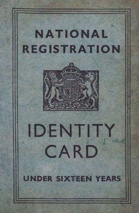 World War II National Registration Identity Card Replica