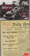 Outbreak of WWI Replica Newspaper