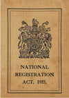 National Identity Card 1915 Replica