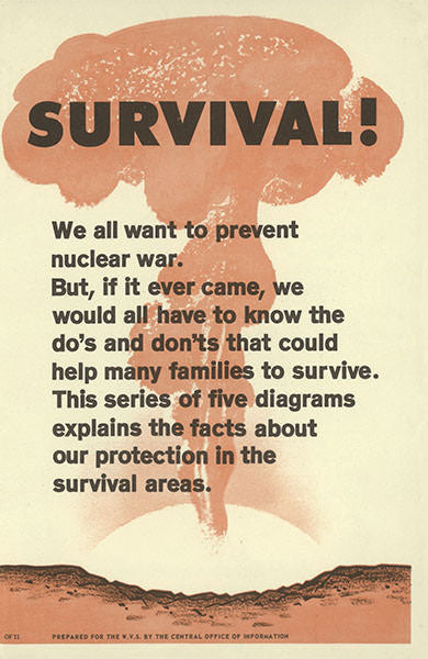 Survival! Nuclear War Information Replica Booklet