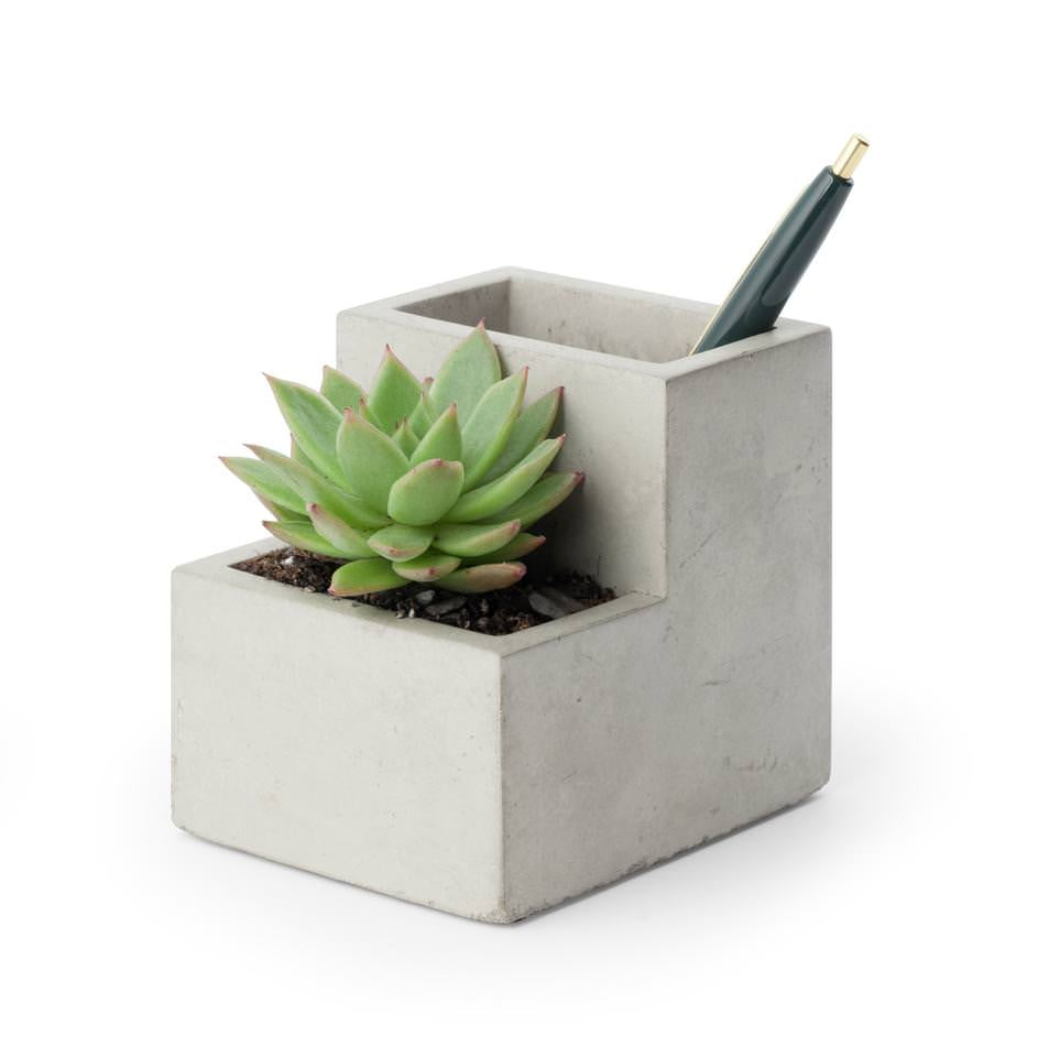 Small Concrete Desk Tidy