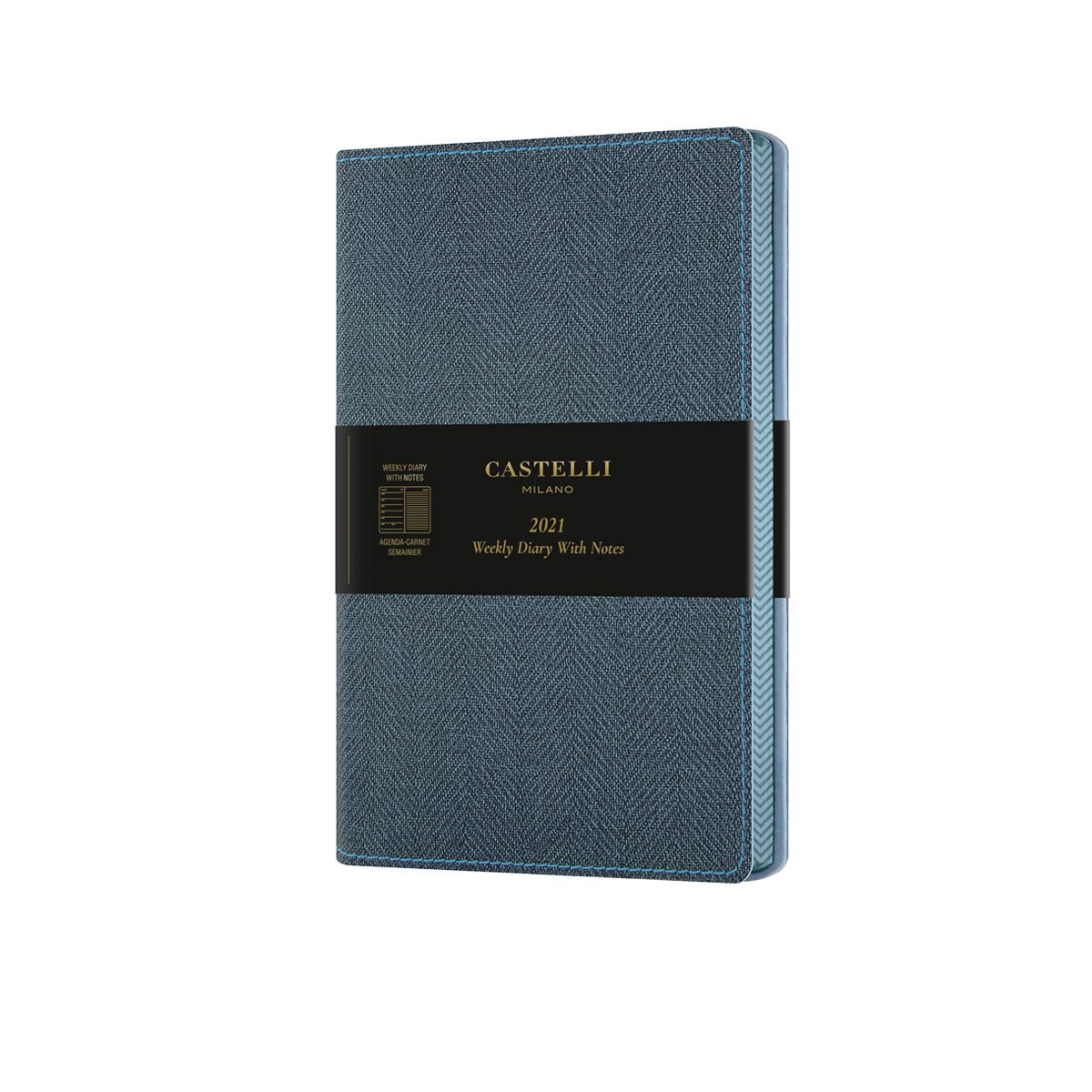 Luxury Blue Harris Tweed 2021 Diary