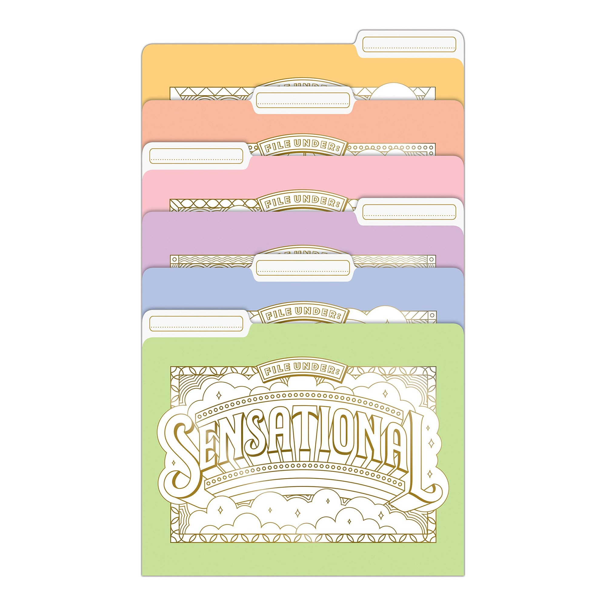 Colour Your Own Decorative File Folders Set of Six