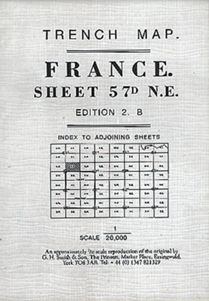 Cover of France Sheet 57D Trench Map