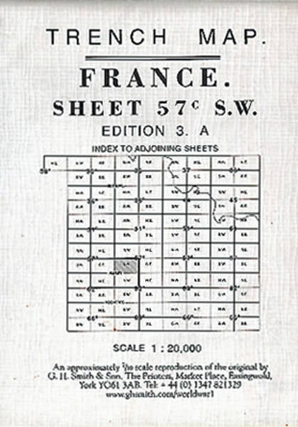 Cover of Trench Map France Sheet 57C