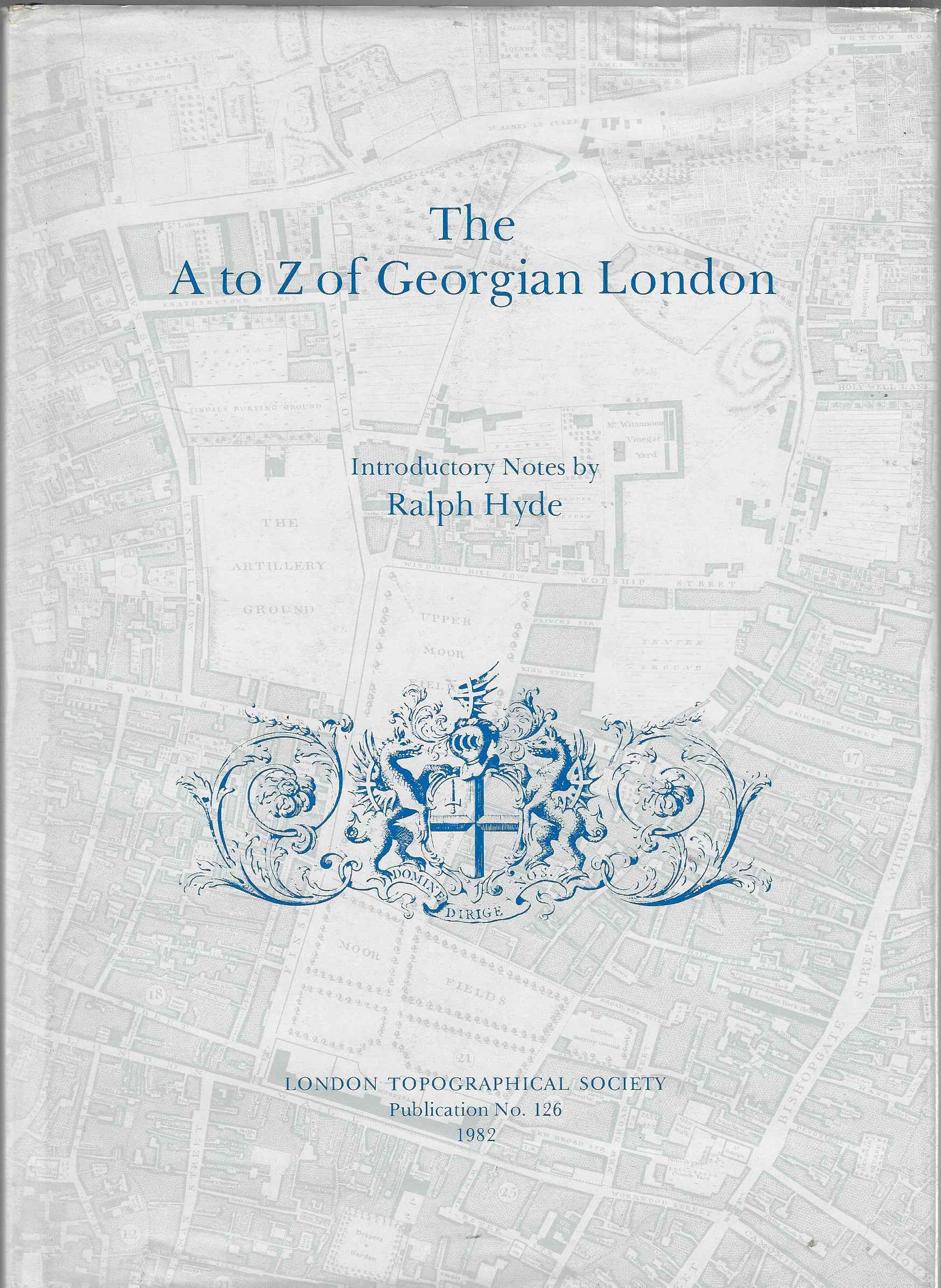 Jacket of The A to Z of Georgian London