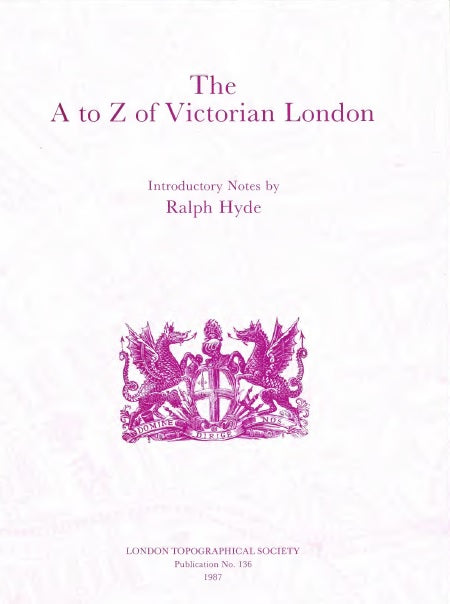 Jacket of The A to Z of Victorian London
