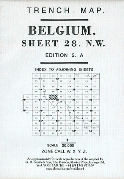 Cover of Belgium Trench Map