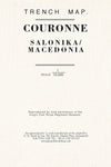 Trench Map Couronne (Salonika/ Macedonia)
