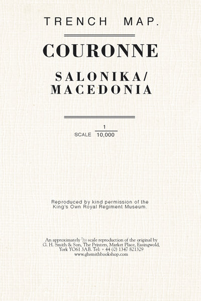 Cover of Couronne Trench Map