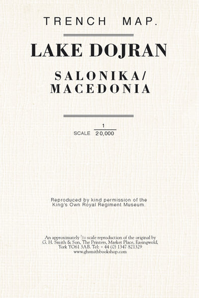 Cover of Lake Dojran Trench Map