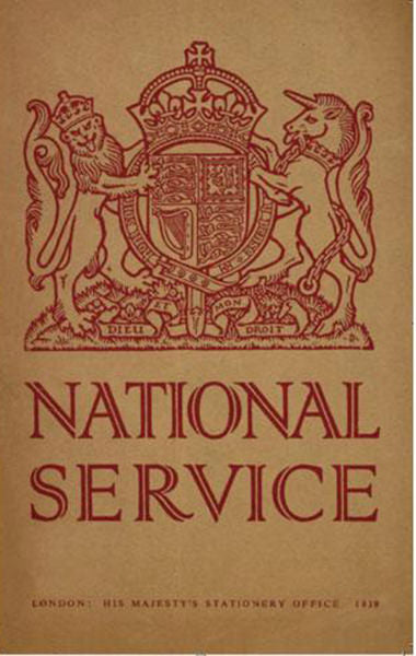 National Service 1939 Replica Booklet