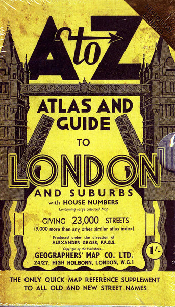 A to Z Atlas and Guide to London and Suburbs Replica Copy