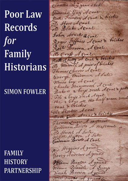 Cover of Poor Law Records for Family Historians