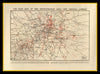 Reproduction WWI Air Raid Map of London Laid on Cloth in Slipcase