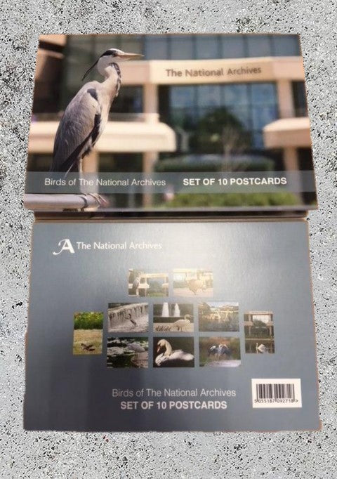 'Birds of The National Archives' Postcard Set
