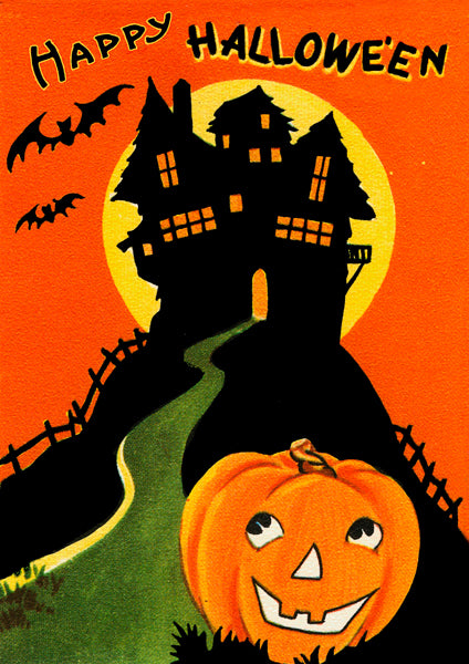 Haunted House Halloween Greetings Card