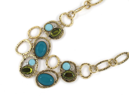 1950's Inspired Costume Gem Necklace