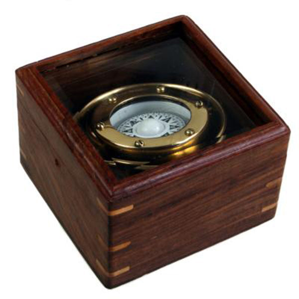 Brass Boxed Compass