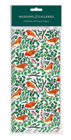 'Robins and Holly' Tissue Paper Sheets