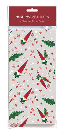 Tissue Paper Sheets - Little Christmas Gnome Print