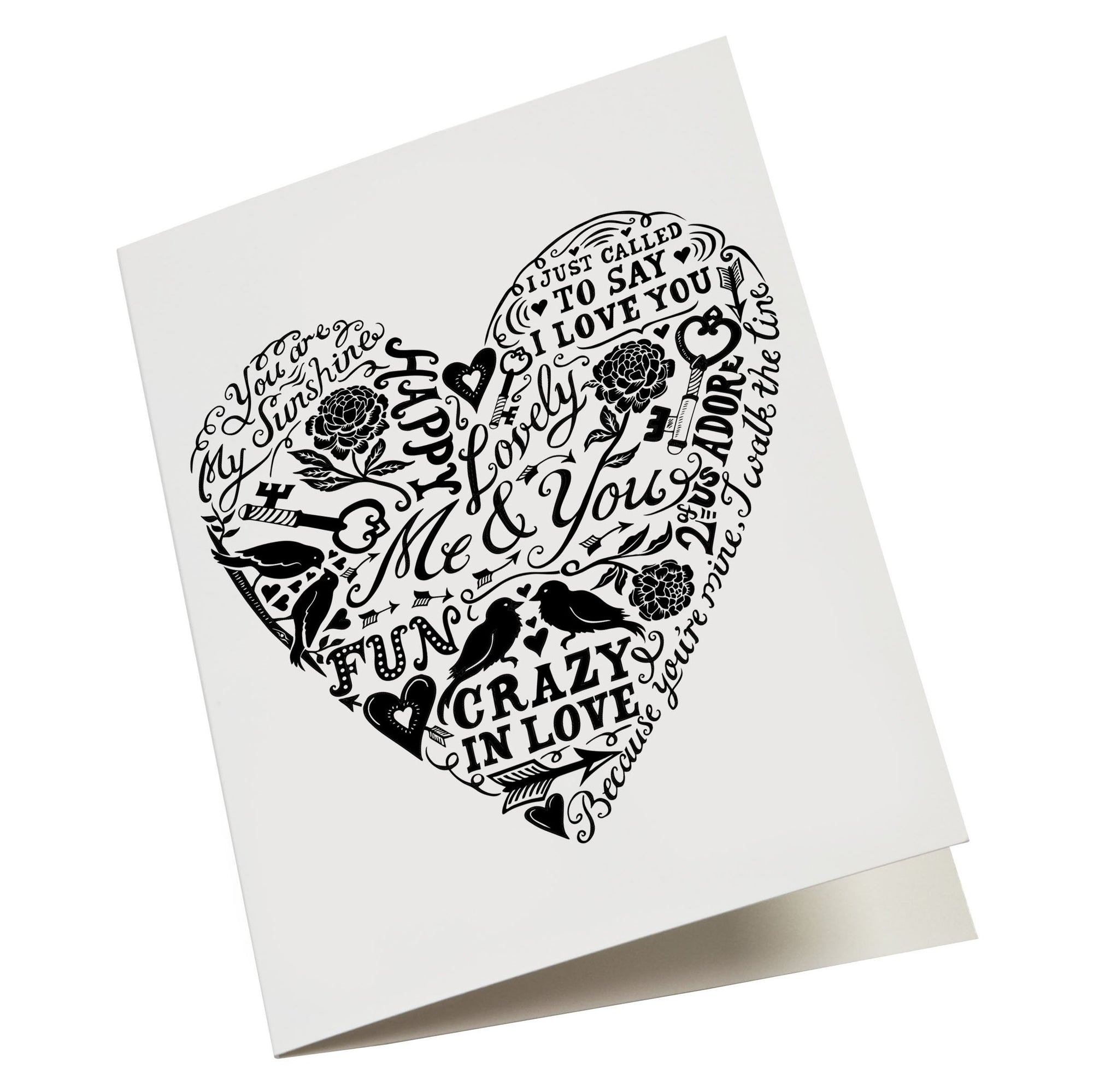 'Love and Lyrics' Greetings Card