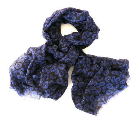 Purple Poppy Remembrance Scarf