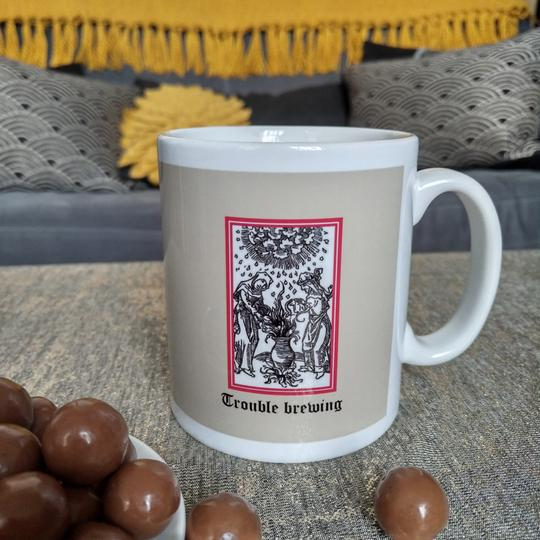 Trouble Brewing ceramic mug