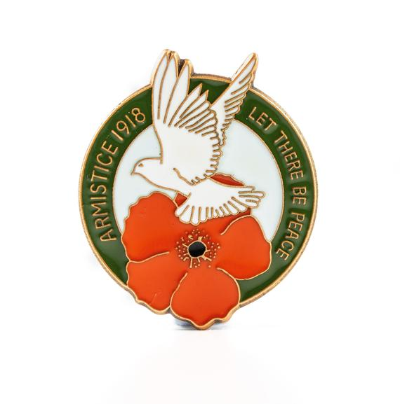 Poppy and Dove Remembrance Pin