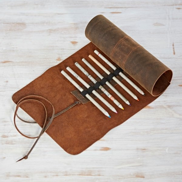 Leather Pencil Roll Case