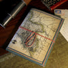 'World Map' Notebook with Tie Cord
