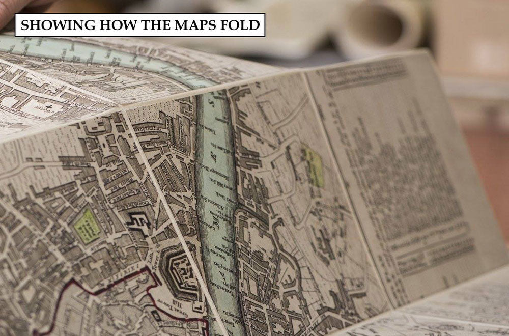 Map and slipcase  for Great Fire of London map.