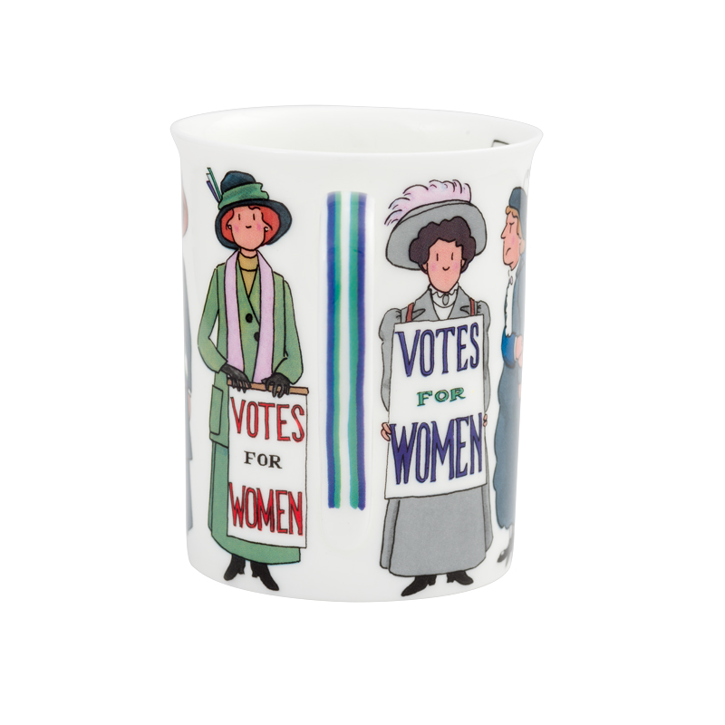 Suffragette 1918 Hand Painted Bone China Mug