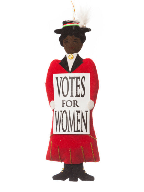 Suffragette In Red Christmas Decoration