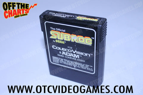 Subroc Colecovision Game Off the Charts