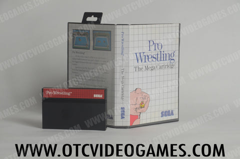 Pro Wrestling Sega Master System Game Off the Charts