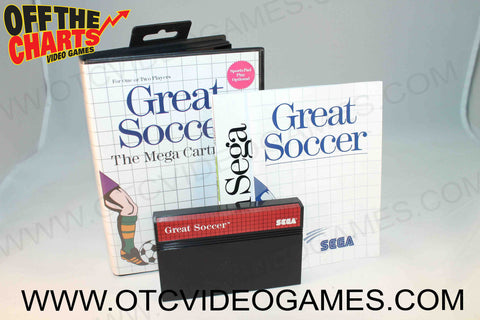 Great Soccer Sega Master System Game Off the Charts