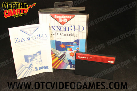 Zaxxon 3-D Sega Master System Game Off the Charts
